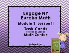 These math centers follow the lessons from Engage NY/Eureka Math.I wanted a hands-on approach to go with my lessons. **6-7-16I've added a QR code so students can check themselves.I've added Task Card-Sized ~~Title, Directions, and Answer Cards.I've also added a white background set to save on ink!Please download preview to see what is included!
