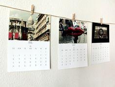 2016 calendar 2016 desk calendar photography calendar Paris 2016 wall calendar A4 calendar 2016 photo calendar 5x7 READY TO SHIP