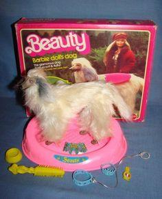 1981 Barbie Beauty the Afghan Hound dog. I had her! I loved that my Barbie had a dog :)