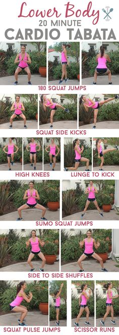 20 minute tabata workout is a serious calorie torcher to get your lower half in shape! No weights, no equipmentThis 20 minute tabata workout is a serious calorie torcher to get your lower half in shape! No weights, no equipment Fitness Workouts, Lower Ab Workouts, At Home Workouts, Fitness Motivation, Cardio Workout At Home, Workout Schedule, Butt Workouts, Workout Routines, Workout Plans