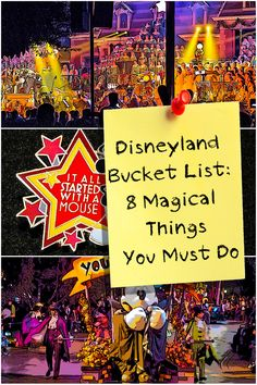 Get a peek into a Disneyland bucket list developed by a two-time Disneyland guidebook author.