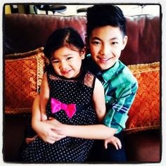 Darren and his cute little sister!!! <3