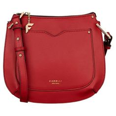 Fiorelli Saddle Crossbody Bag ($60) ❤ liked on Polyvore featuring bags, handbags, shoulder bags, cross body, crossbody shoulder bags, crossbody purse, red crossbody purse and red crossbody handbags