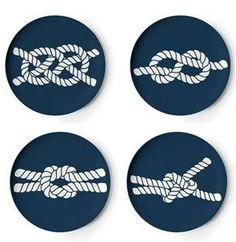 Thomas Paul Melamine Scrimshaw Knot Coasters | $18