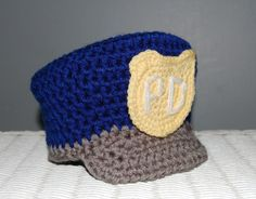 Cute Little Man Police Hat. This makes for a great photo prop. http://media-cache2.pinterest.com/upload/98586679312961276_BlTFuWuz_f.jpg crochetbykristy crochet by kristy