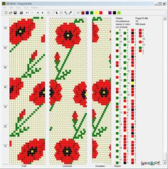 """Follow the """"Draft"""" pattern for the jewel loom. This is a repeating, joined pattern."""