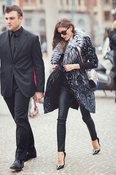 Olivia Palermo during Milan Fashion Week, Fall 2013