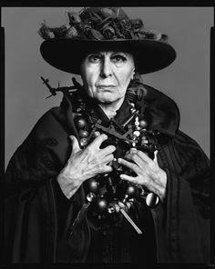 By my eternal favorite photographer Richard Avedon: Louise Nevelson, sculptor, New York, May 13, 1975