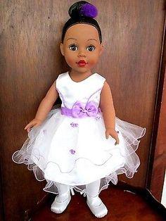 Madame-Alexander-2009-18-Ballerina-Doll-African-American-Brown-eyes-Hair