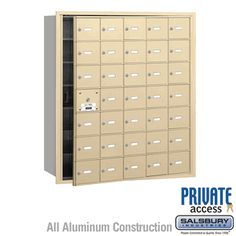 35 Door (34 Usable) 4B  Horizontal Mailbox Sandstone Front Loading A Doors Private Access