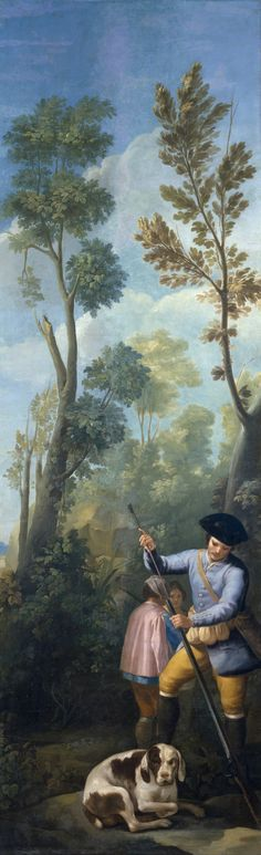 Francisco Goya A Hunter Loading his Shotgun 1775 Francisco Goya, Spanish Painters, Spanish Artists, National Art Museum, Art Painting Gallery, Renaissance Art, Old Master, Pictures To Paint, Online Gallery