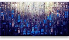 Oil Painting Abstract Modern Contemporary Wall Decor Art on Canvas Deep Blue inches) Acrylic Painting Tips, Texture Art, Metallic Paint, Metal Wall Art, Decoration, Deep Blue, Contemporary Style, Framed Art, Art Drawings