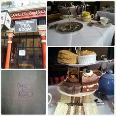 Afternoon Tea at Soho Secret Tea Rooms (29 Greek Street, London)