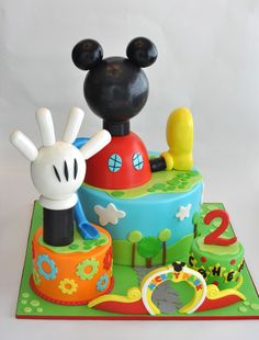 Mickey Mouse Clubhouse Cake, Hope's Sweet Cakes