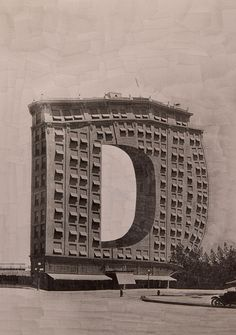 Typography collages transform letters into buildings | Creative Bloq | Lola Dupre