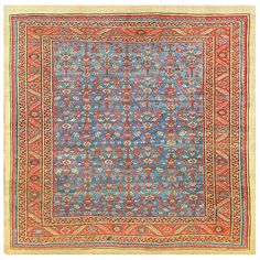 Antique Persian Bakshaish Carpet | From a unique collection of antique and modern persian rugs at https://www.1stdibs.com/furniture/rugs-carpets/persian-rugs/
