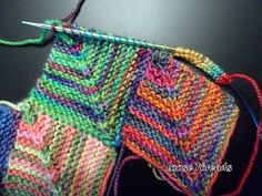 LOOSE THREADS: Knit Mitered Square Sock Blanket