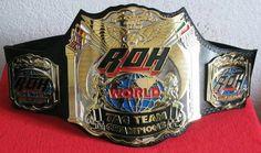 Old ROH World Tag Team Championship Belt