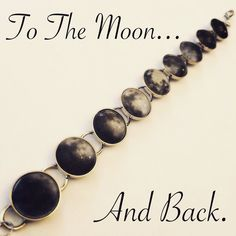 Moon phases bracelet from HORTONS handmade design in silver showing the phases of the moon in glass domes with adjustable length for ease of wear. http://www.hortonshandmadedesignco.bigcartel.com/product/moon-phases-bracelet