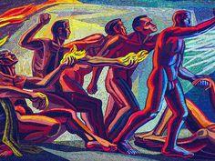 José Chávez Morado nació en 1909 en la cuidad de Silao, Guanajuato.  El fue un pintor muy famoso de Mexico como Diego Riviera.  Morado pintó algunos murales magníficos en Mexico, y también fue un escultor.  Este foto es de un mural pintado por José.