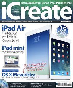 De nieuwe iCreate is verschenen, met daarin natuurlijk de nieuwe iPads & OS X Mavericks. eMagazine verkrijgbaar via de #BrunaTablisto app.