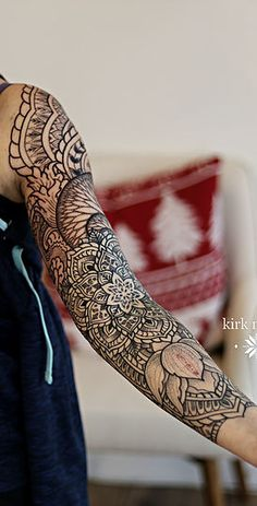 Mandalas, Geometric, dot work, black work, pointilism, henna and sacred geometry tattoos in New Jersey, Los Angeles and Philadelphia.