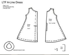 LMA - A Line Dress Pattern Pt1 V2 by *Randomfish, via Flickr