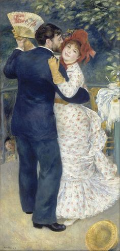 Country Dance by Pierre-Auguste Renoir. Exhibitions: Renoir and Friends:Luncheon of the Boating Party, October 2018 -National Gallery of Art, Washington, D. Country Dance, Danse Country, Country Art, Pierre Auguste Renoir, August Renoir, Images D'art, Renoir Paintings, Oil Painting Reproductions, Art Moderne