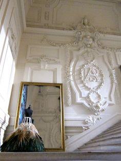 """showstudio: """"The entrance to Jean Paul Gaultier's Paris maison """" Jean Paul Gauthier, Gypsum Decoration, Appeasement, Luxury Homes Dream Houses, I Love Paris, Architectural Elements, Parisian Style, Home Interior Design, Entrance"""