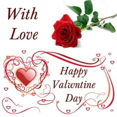 valentines day wish with heart and roses send e cards to your valentine - Valentine Wish
