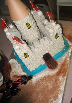 can bake cake in tin cans for tower of cake - Knight party