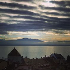 Waves over the lake . Best Of Switzerland, Vacations, Wonderland, Waves, Clouds, Explore, Mountains, Sunset, Pictures