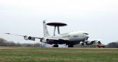 E-3 Sentry (AWACS). An E-3 Sentry airborne warning and control system aircraft, known as AWACS, lands at Tinker Air Force Base, Oklahoma, March 23 after completing a mission. The first E-3 touched down at Tinker exactly 30 years to the day and began an new era for air surveillance