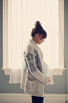Perfection: Schwangerschafts Outfit, Strickjacke, Photo!
