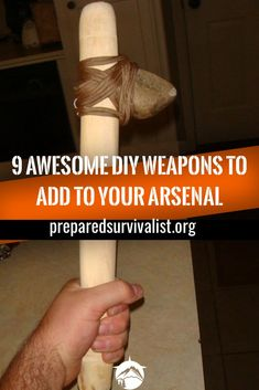 These 9 DIY weapons will keep unwanted guests away from your home or these 9 homemade weapons will help you out when a disaster strikes. Survival Food, Outdoor Survival, Survival Prepping, Emergency Preparedness, Survival Skills, Survival Hacks, Bushcraft Skills, Doomsday Prepping, Emergency Preparation