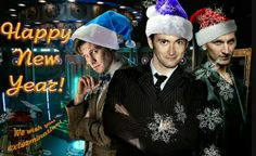 The Doctors New Year's greeting. (And the Dalek's) [hmmm . . . do I pin this under Dr. Who or UK Christmas?  :-)   ]