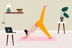 Training at home concept Free Vector Baseball Activities, Yoga Illustration, Home Greenhouse, Online Personal Trainer, Running On Treadmill, Home Sport, Yoga Moves, Plank Workout, Do Exercise