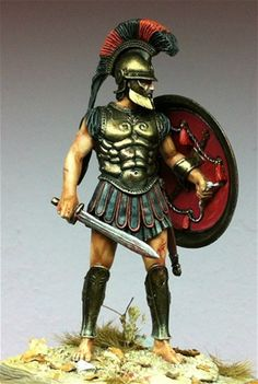 Athenian Hoplite 75MM By the 5th century BC the military prowess of Sparta provided a model Army for all other states to follow.With their professional and well-trained full-time Army the Spartans showed what professionalism in warfare could achieve.The mainstay of a classical period Hellenic ar...