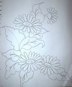 This Pin Was Discovered By Embroidery Flowers Pattern, Silk Ribbon Embroidery, Hand Embroidery Designs, Embroidery Applique, Embroidery Stitches, Machine Embroidery, Embroidery Ideas, Painting Patterns, Fabric Painting