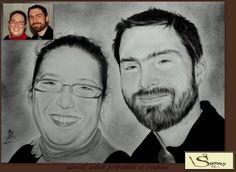 portrait couple #dessin au crayon #portraitiste#amazing #dessin #pencil je donne vie à vos envies, avec mes crayons magiques d'après vos photos