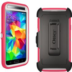 OtterBox Defender Series Rose Case Cover with Clip Holster For Samsung Galaxy S5 #OtterBox
