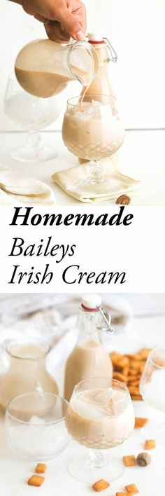 Homemade Bailey's Irish Cream Liquor? Copy cat version easily customizable to suit your tastebuds with mint or spices homemade smoothies Homemade Baileys, Homemade Irish Cream, Homemade Liquor, Baileys Irish Cream, Irish Cream Liquor, Smoothie Without Yogurt, Yogurt Smoothies, Homemade Cat Food, Homemade Smoothies