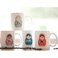 The cutest little mugs... Once I clear out the extra 20 or so mugs that we have already, these will be on my Christmas list!