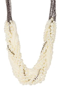 Eye Candy Los Angeles- White Collar Necklace