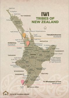 Map of NZ Maori Iwi - North Island