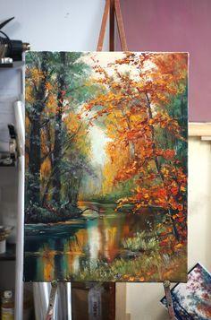 ❤ ️im ❤ painting в 2019 г. painting, watercolor paintings и acrylic art. Acrylic Art, Acrylic Painting Canvas, Canvas Art, Canvas Size, Landscape Art, Landscape Paintings, Landscapes, Art Paintings, Autumn Painting