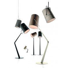Fork (Marron / Ivoire) Lampadaire Diesel Vibert Eclairage, spécialiste du luminaire et éclairage design.