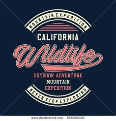 graphic for shirt and print MOUNTAIN EXPEDITION CALIFORNIA
