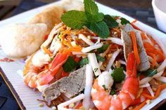 Vietnamese Lotus Stem with Pork and Shrimps