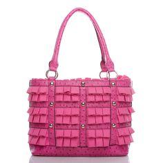 Mixed textures handbag.